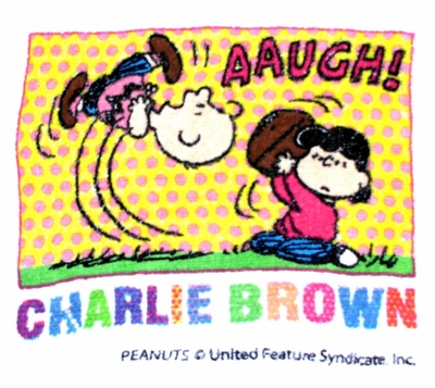 Peanuts Charlie Brown and Lucy van Pelt mini towel