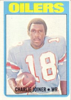 Charlie Joiner Houston Oilers 1972 Topps Rookie Card #244