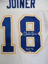 Charlie Joiner autographed San Diego Chargers white throwback stitched jersey