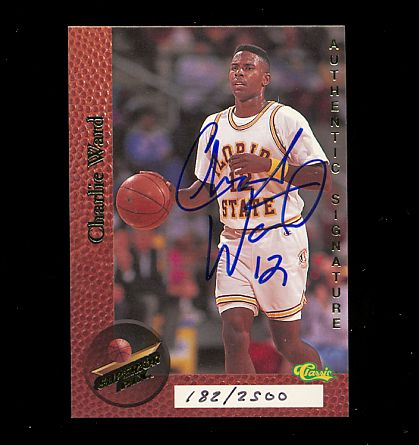 Charlie Ward certified autograph Florida State 1995 Superior Pix card