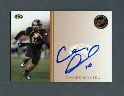 Chase Daniel certified autograph Missouri Tigers 2009 Press Pass card