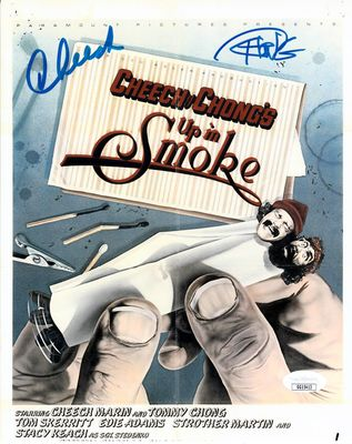 Cheech Marin and Tommy Chong autographed Up In Smoke movie poster 8x10 print (JSA)