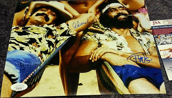 Cheech Marin and Tommy Chong autographed Up In Smoke 8x10 movie photo (JSA)