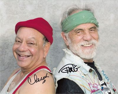 Cheech Marin and Tommy Chong autographed 8x10 photo