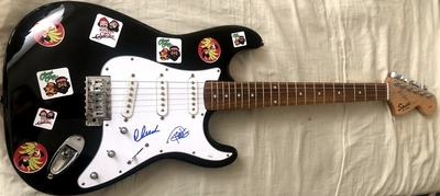 Cheech Marin and Tommy Chong autographed Cheech and Chong Fender Bullet electric guitar (JSA)