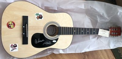 Cheech Marin and Tommy Chong autographed Cheech and Chong acoustic guitar (JSA)
