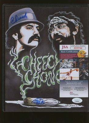 Cheech Marin and Tommy Chong autographed Up In Smoke 8x10 artwork print or photo (JSA)