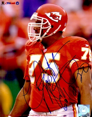 Chester McGlockton autographed Kansas City Chiefs 8x10 photo