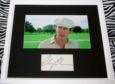Chevy Chase autograph matted and framed with Caddyshack movie photo