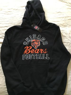 Chicago Bears Majestic black heavyweight hoodie or hooded sweatshirt BRAND NEW WITH TAGS