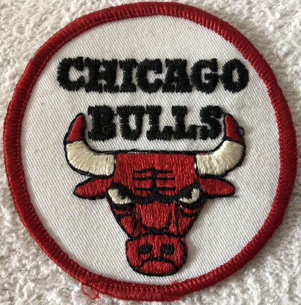 Chicago Bulls vintage embroidered logo iron on patch