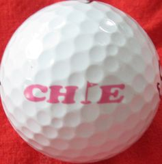 Chie Arimura autographed personal model tournament used TourStage golf ball