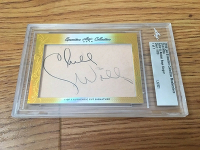 Chill Wills 2016 Leaf Masterpiece Cut Signature certified autograph card 1/1 JSA Avalon Boys