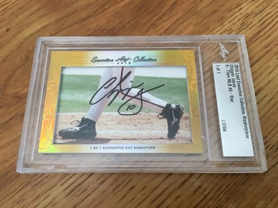 Chipper Jones 2016 Leaf Masterpiece Cut Signature certified autograph card 1/1 JSA