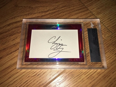 Chipper Jones and Ryan Klesko 2015 Leaf Masterpiece Cut Signature certified autograph card 1/1 JSA