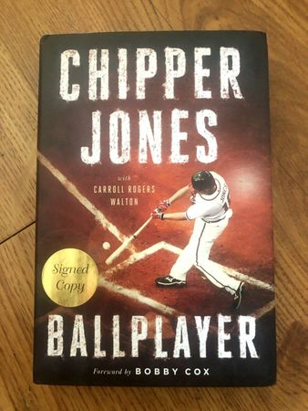 Chipper Jones autographed Ballplayer hardcover book
