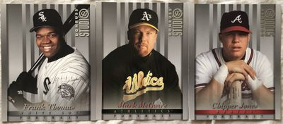 Chipper Jones Mark McGwire or Frank Thomas 1997 Donruss Studio 8x10 photo card