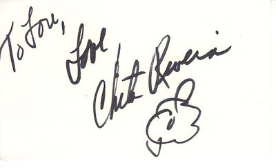 Chita Rivera autographed 3x5 index card (personalized) JSA