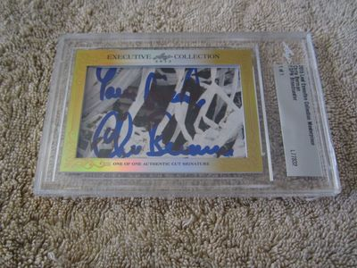 Chris Berman 2015 Leaf Masterpiece Cut Signature certified autograph card 1/1 JSA ESPN