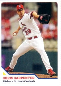 Chris Carpenter St. Louis Cardinals 2010 Sports Illustrated for Kids card