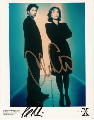 Chris Carter autographed X-Files 8x10 publicity photo