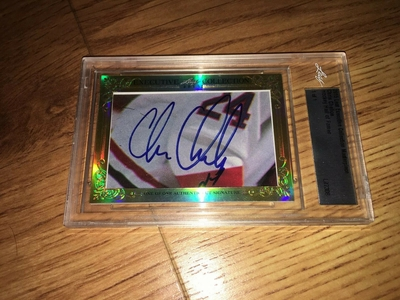 Chris Chelios 2015 Leaf Masterpiece Cut Signature certified autograph card 1/1 JSA