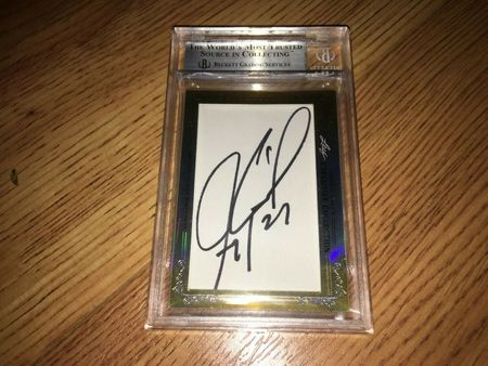 Chris Chelios and Jeremy Roenick 2013 Leaf Masterpiece Cut Signature certified autograph card 1/1 JSA
