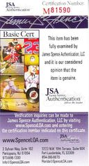 Chris Conley autographed blank back of business card (JSA)
