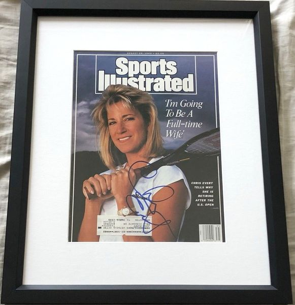 Chris Evert autographed 1989 Sports Illustrated cover matted and framed