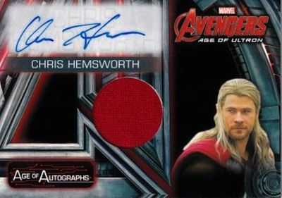 Chris Hemsworth certified autograph Avengers Age of Ultron 2015 Upper Deck Age of Autographs card