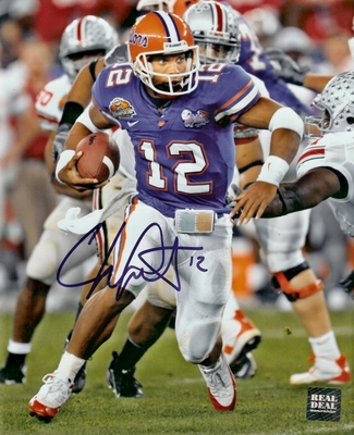 Chris Leak autographed Florida Gators 2006 National Championship 8x10 photo