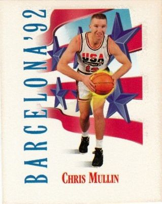 Chris Mullin 1991-92 SkyBox USA Dream Team Mark and See mini card