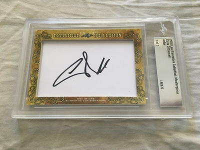 Chris O'Donnell 2018 Leaf Masterpiece Cut Signature certified autograph card 1/1 JSA NCIS
