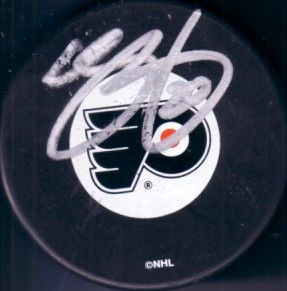 Chris Pronger autographed Philadelphia Flyers puck