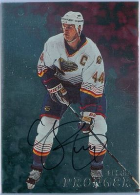 Chris Pronger certified autograph St. Louis Blues Be a Player card