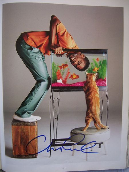 Chris Rock autographed 11x14 Rolling Stone book photo