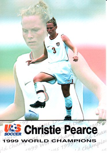 Christie (Pearce) Rampone 1999 U.S. Women's National Team Roox soccer Rookie Card