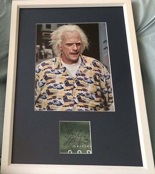 Christopher Lloyd autograph matted and framed with Back to the Future 8x10 movie photo