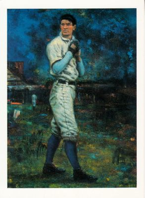 Christy Mathewson artwork postcard