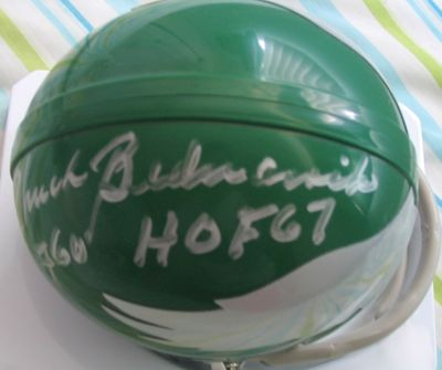 Chuck Bednarik autographed Philadelphia Eagles throwback authentic mini helmet