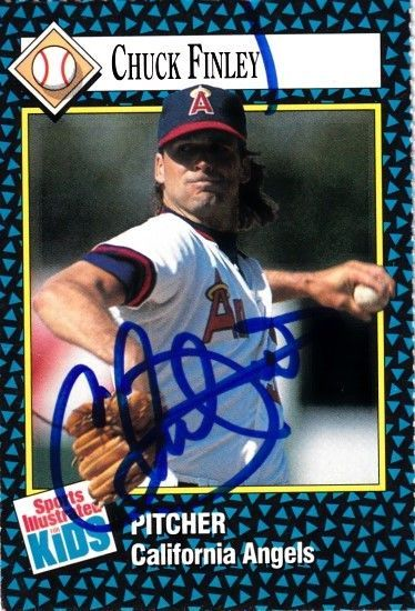 Chuck Finley autographed Angels 1992 Sports Illustrated for Kids card