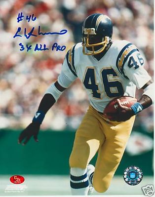 Chuck Muncie autographed San Diego Chargers 11x14 photo inscribed 3X All Pro