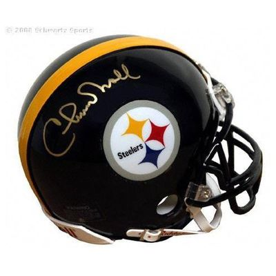 Chuck Noll autographed Pittsburgh Steelers mini helmet
