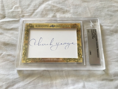 Chuck Yeager 2018 Leaf Masterpiece Cut Signature certified autograph card 1/1 JSA