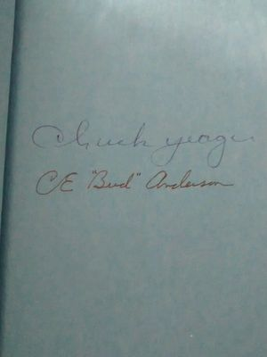 Chuck Yeager & Bud Anderson autographed Press On! hardcover book
