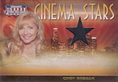 Cindy Morgan (Caddyshack) worn shirt swatch 2007 Donruss Americana card #420/500