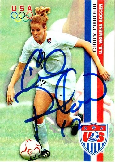 Cindy Parlow autographed 2000 U.S. Olympic Women's Soccer Team Roox card