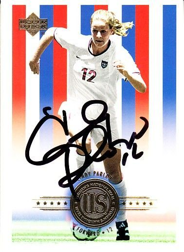 Cindy Parlow autographed U.S. Olympic Soccer Team 2000 Upper Deck card