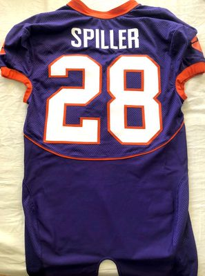 C.J. Spiller Clemson Tigers authentic Nike TEAM ISSUED stitched purple game model jersey NEW