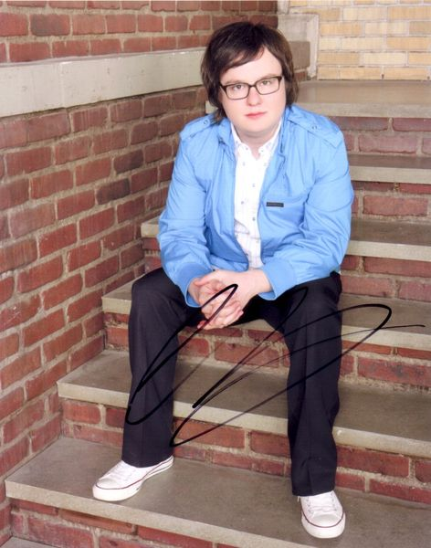 Clark Duke autographed 8x10 portrait photo